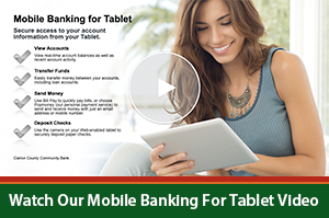 Mobile Banking for Tablet Video Image