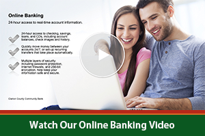 Online Banking Video Image